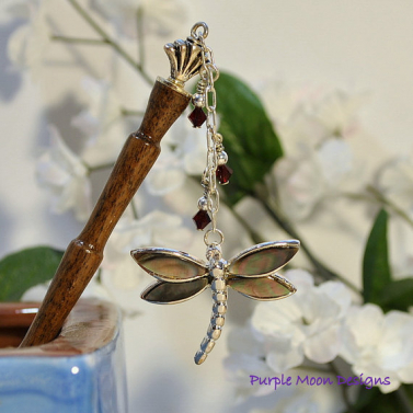Dragonfly Charm Hair Stick