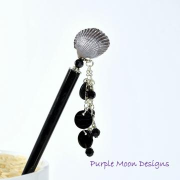 """Charm Hair Stick, 5 inch Beach Hair Pin - """"Karma"""""""