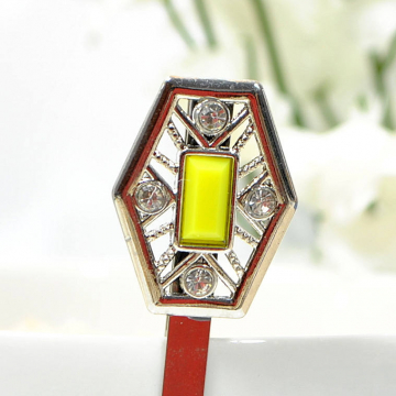 Yellow Bobby Pin, Art Nouveau Hair Pin, Embellished Bobby Pin, Yellow Bobbies, One of a Kind Hair Accessories