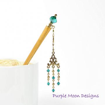 """Geisha Hair Stick, 4 inch Japanese Bun Pin - """"Dream a Little Dream"""""""