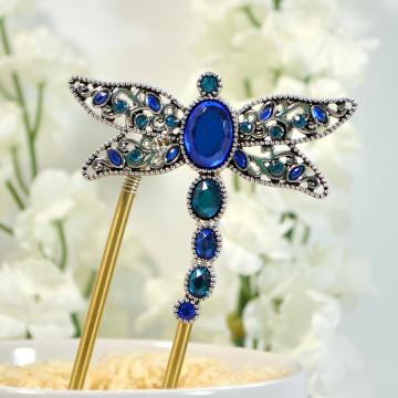 Dragonfly Hair Fork, Dragonfly Hair Pin, Blue Dragonfly, Strong Hair Fork, Dragonfly Jewelry, Bun Holder, Bun Pin