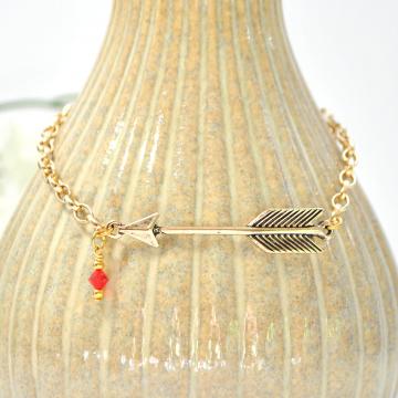 Arrow Anklet, Chain Ankle Bracelet, Arrow Ankle Bracelet, Love Anklet, Charm Anklet, Handmade Anklet