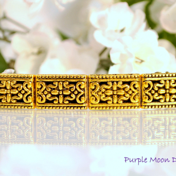 Gold Barrette, Gold Hair Clip, Victorian Barrette, Handmade, Hair Slide, French Barrette, Handmade, Hair Accessory for the Office