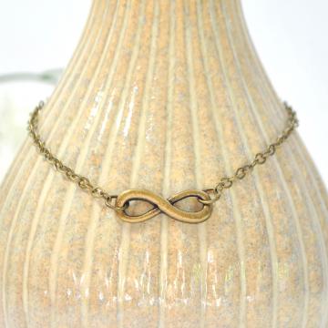 Infinity Anklet, Charm Ankle Bracelet, Infinity Ankle Bracelet, Bronze Ankle Bracelet, Infinity Jewelry, Handmade Anklet