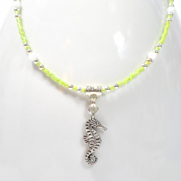 Seahorse Anklet, 9 inch Handmade Beach Ankle Bracelet