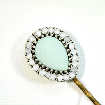 White Bobby Pin, Iridescent Barrette, Wedding Hair Pin