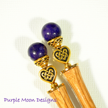 Celtic Heart Hair Sticks