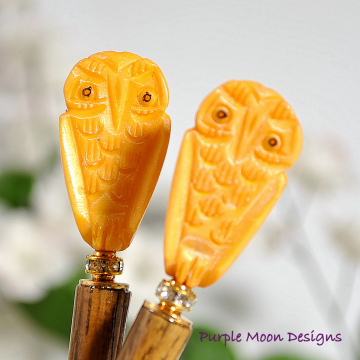 Owl Hair Sticks
